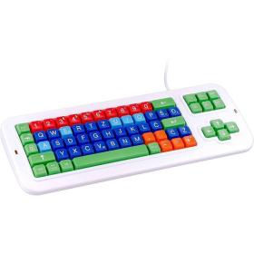 Croatian Keyboard | Clevy Kids Croatian Computer Keyboard | International Keyboards Large Keys | Uppercase letters | Kids Keyboarding | Teach Kids Typing