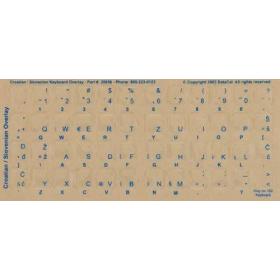 Croatian Keyboard Stickers | Croatian Language Keyboard Stickers | Blue & White Letters | Clear Transparent Stickers Labels | Serbo-Croatian - српскохрватски