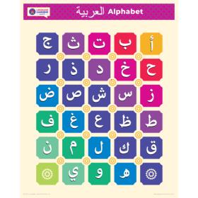 "العربية | ARABIC Alphabet Poster | Alif Ba Ta | Learn Arabic Letters | Printable Art Poster | Colorful  | Homeschool or Classroom Wall Decoration | 16"" x 20"" | 8.5"" x 11"""