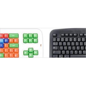 Norwegian Computer Keyboard | Clevy Kids Norwegian Keyboard | International Keyboards Large Print | Uppercase & Lowercase Keys | Kids Keyboarding | Teach Kids Typing