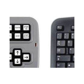 Clevy Contrast Keyboard | Kids Computer Keyboard | English Keyboard | Large Key Uppercase | Visually Impaired | Low Vision Keyboard | SPED